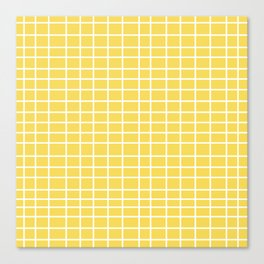 Squares of Yellow Canvas Print