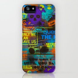 Uplifting Collage (fluo) iPhone Case