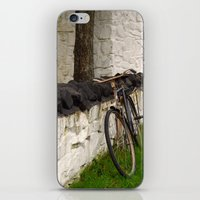cycle iPhone & iPod Skins featuring Cycle by Sarah Ridings