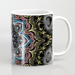 Burning Butterfly Mandala Coffee Mug