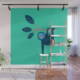 Sloth hanging Wall Mural