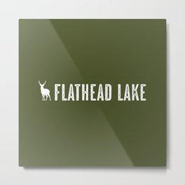 Deer: Flathead Lake, Montana Metal Print