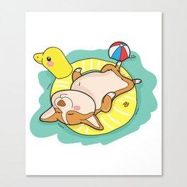 Corgi Cute Funny Gift Canvas Print