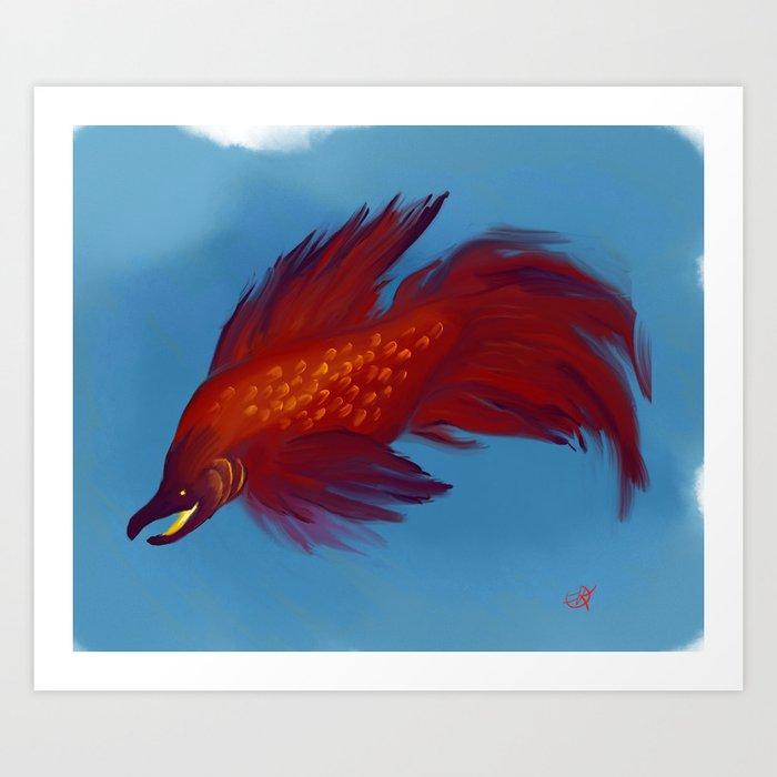 Luck Fish Art Print