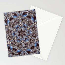 Blue and Gray Madala Stationery Cards