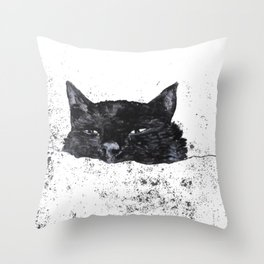 zzz cat Throw Pillow