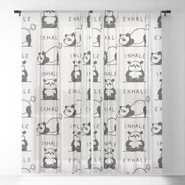 Inhale Exhale Panda Sheer Curtain
