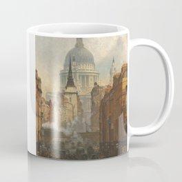 London skyline, Vintage view of St Paul's Cathedral Victorian era Coffee Mug
