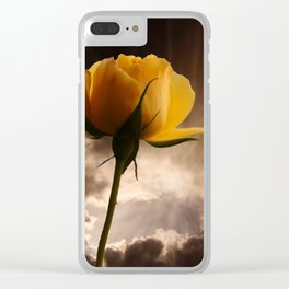 Good Morning World Clear iPhone Case