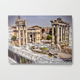 Patterns of Places - Rome Metal Print