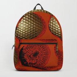 ORANGE RED GOLD Backpack