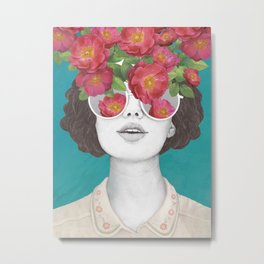 The optimist // rose tinted glasses Metal Print