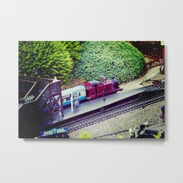 Model Railway. Metal Print