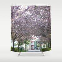 vienna Shower Curtains featuring amidst Vienna by MehrFarbeimLeben