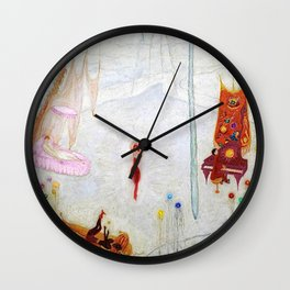Dance Like Nobody Is Watching (Music to Dance By), A Portrait by Florine Stettheimer Wall Clock