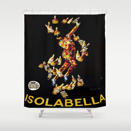 Vintage poster - Isolabella Shower Curtain