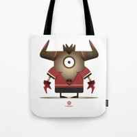taurus Tote Bags featuring TAURUS by Angelo Cerantola