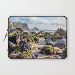 Watergate Bay - Seaweed covered Rocks Laptop Sleeve