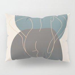 Line Female Figure 80 Pillow Sham