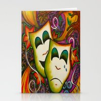 theatre Stationery Cards featuring Masks (Theatre) by Alexa Brooke Rutledge