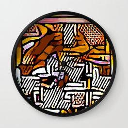 Kolage ~ Egyptian Gold ~ 7 Wall Clock