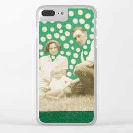 Magic Heads Family Clear iPhone Case