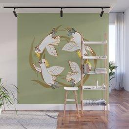 Cockatoo Angels (Natural green) Wall Mural