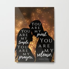 Laia & Elias - An Ember in the Ashes Inspired Quote Metal Print