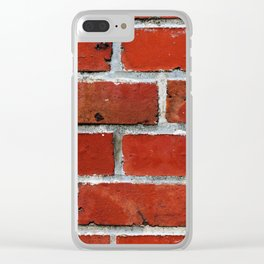 Red tile pattern Clear iPhone Case