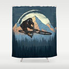 MTB Trick Shower Curtain