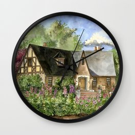 Tudor House on Kentucky Avenue Wall Clock