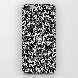 Black and White Abstract Texture Design iPhone Skin