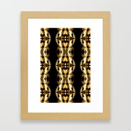 DIGI TRIBE YELLOW Framed Art Print