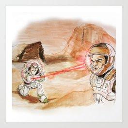 The Martian Invader Art Print