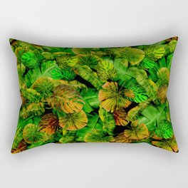 Tropical leaf random pattern painting iPhone 4 4s 5 5c 6 7, pillow case, mugs and tshirt Rectangular Pillow