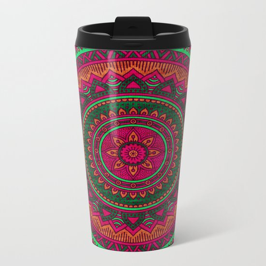 Hippie mandala 64 Metal Travel Mug