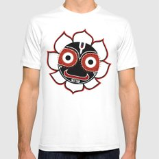 Jagannath MEDIUM White Mens Fitted Tee