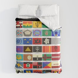 Vexillology of Undiscovered Countries Comforters
