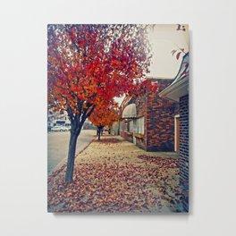 Autumn in Downtown Ironton Metal Print