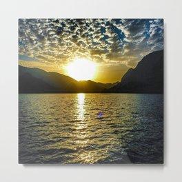 Sunset view in Muscat Oman Metal Print