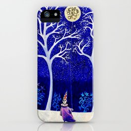 'The Moon is a Balloon (Anchored to Promises of the Night)' iPhone Case