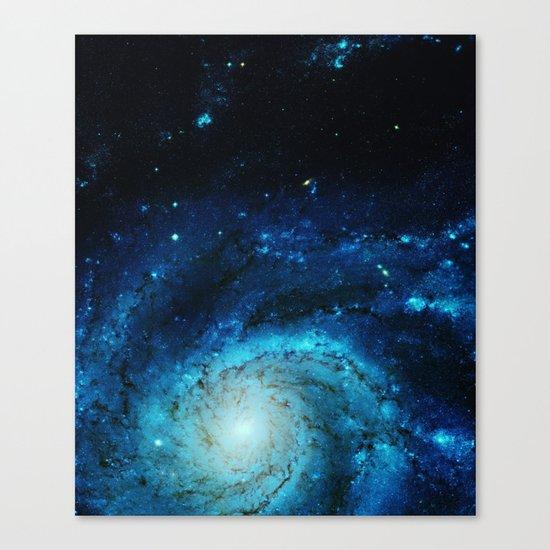 Teal Pinwheel Galaxy Canvas Print