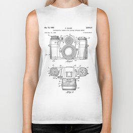 Camera Patent - Photography Art - Black And White Biker Tank