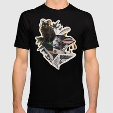 AYAHUASCA CAT Mens Fitted Tee Black LARGE