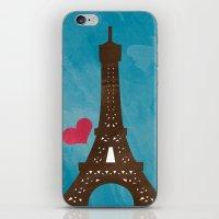 eiffel iPhone & iPod Skins featuring Eiffel by Daniela Marti
