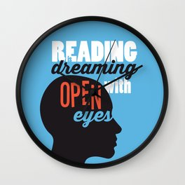 Open Eyes - Just Read Wall Clock