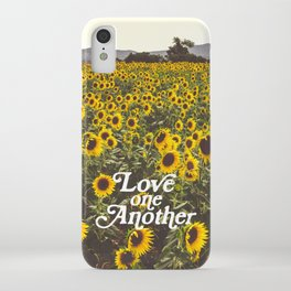 Love One Another Sunflowers iPhone Case