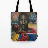 air jordan Tote Bags featuring Air Jordan by DaeSyne Artworks