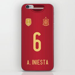 World Cup 2014 - Spain Iniesta Shirt Style iPhone Skin