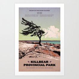 Killbear Provincial Park Art Print